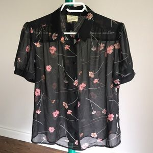 Urban Outfitters Pins & Needles Floral Blouse